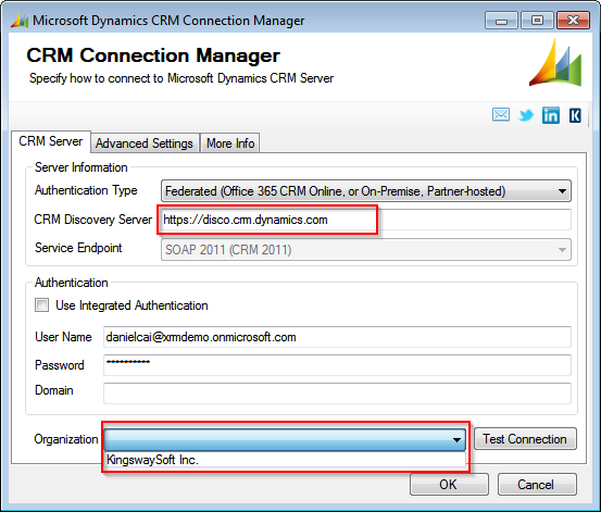 CRM Connection Error: Value cannot be null  Parameter name