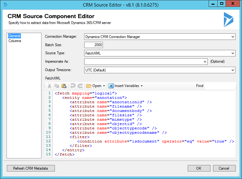 CRM Source (Extract CRM Annotation/Attachment Records)