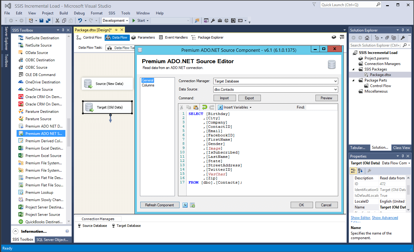 Incremental Load in SSIS with Diff Detector