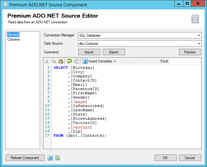 Retrieve SQL Server Data in SSIS