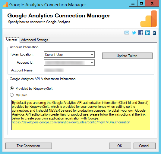 SSIS Google Analytics Connector