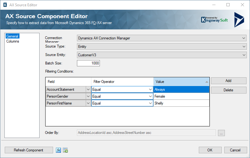 Microsoft Dynamics AX Source Component