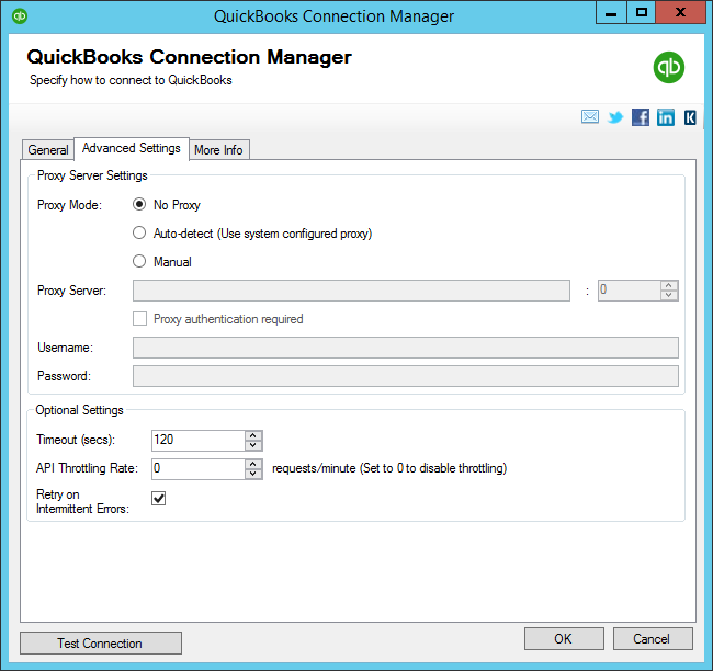 QuickBooks Connection Manager