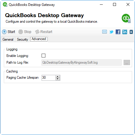 QuickBooks Desktop Gateway - Advanced