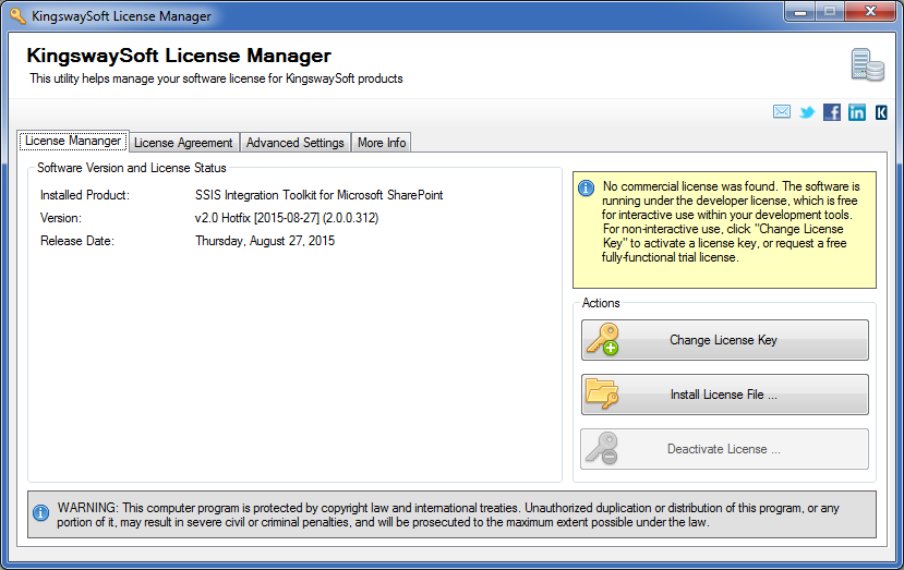KingswaySoft License Manager