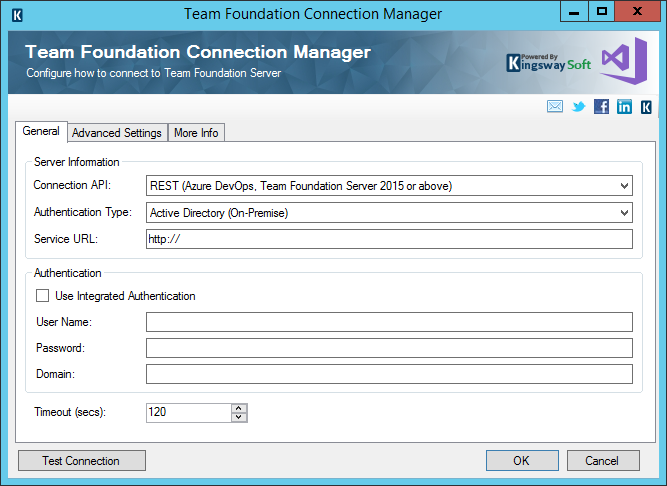 Team Foundation Server Connection Manager