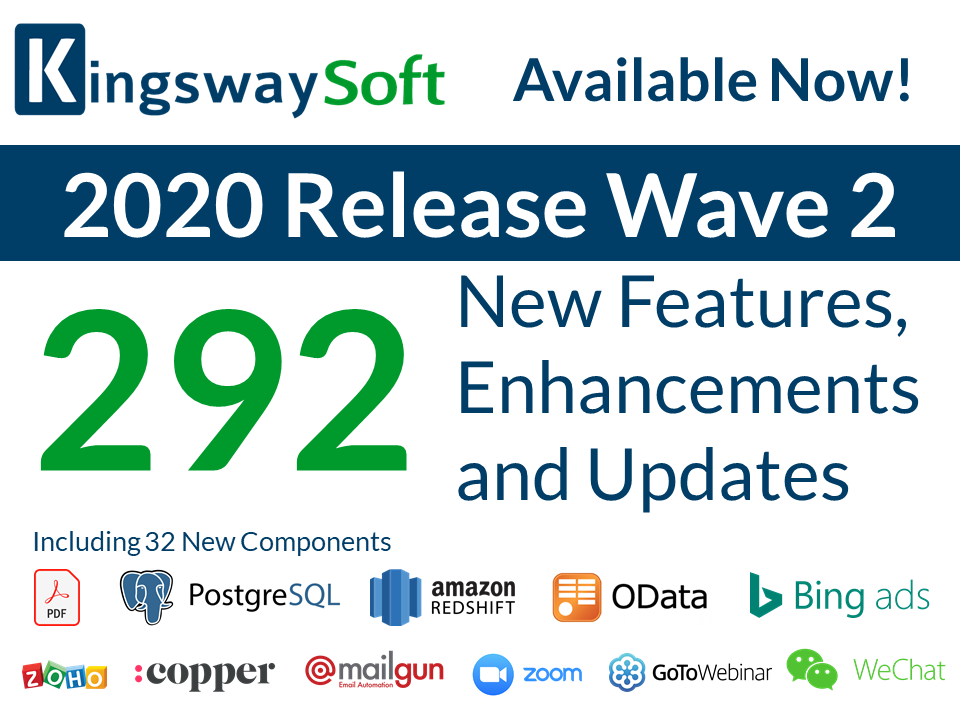 KingswaySoft 2020 Release Wave 2 Now Available