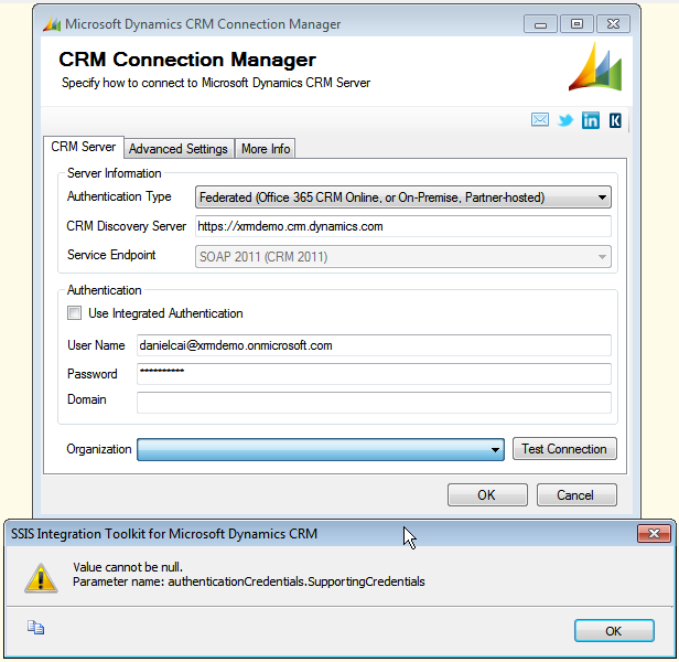 integrating service parameters crm b Integrating your applications with ms crm online 2011 using c# sdk  requestparameters  i have a client application in which i consume crm 2011 service.