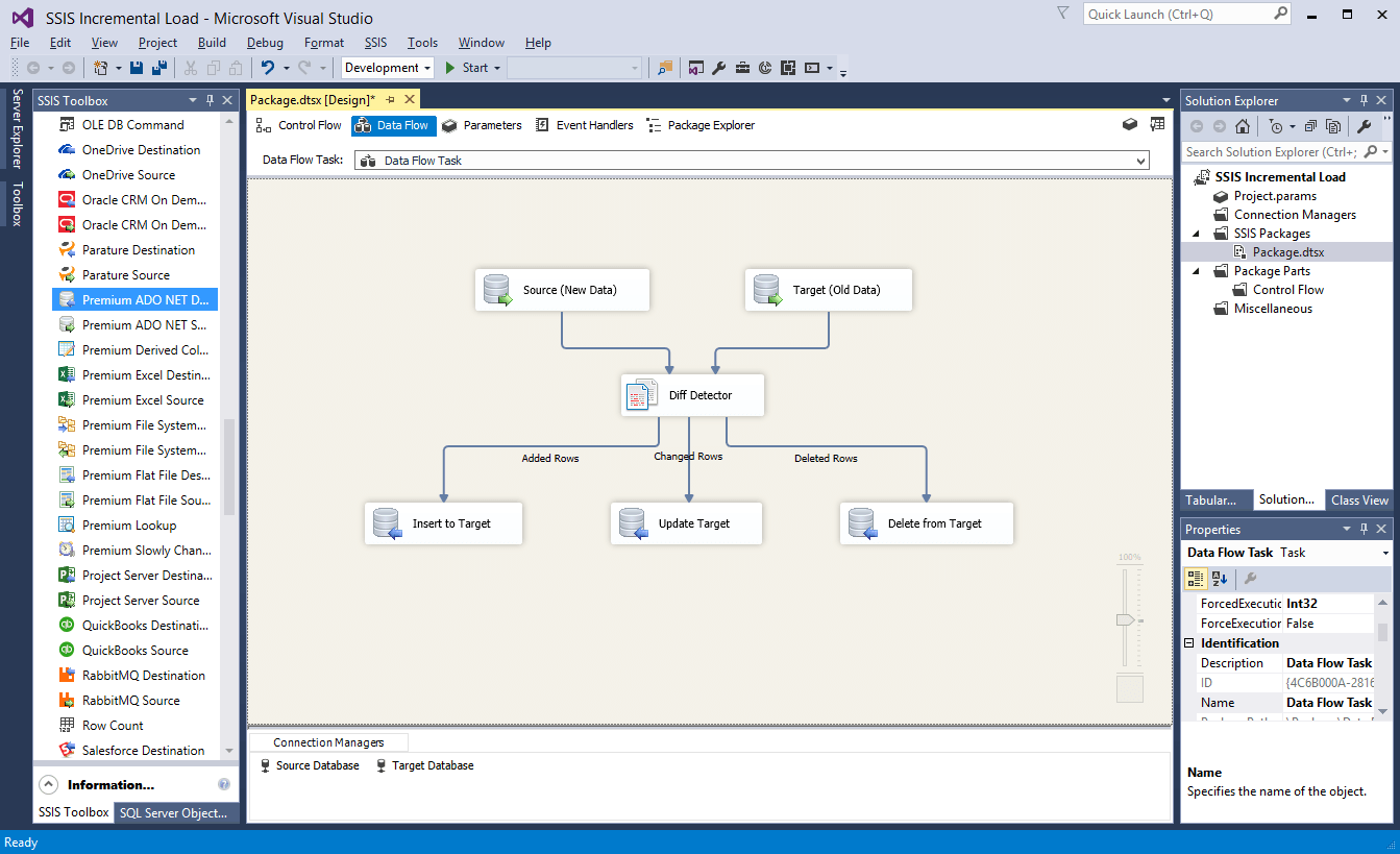 ssis incremental load data flow