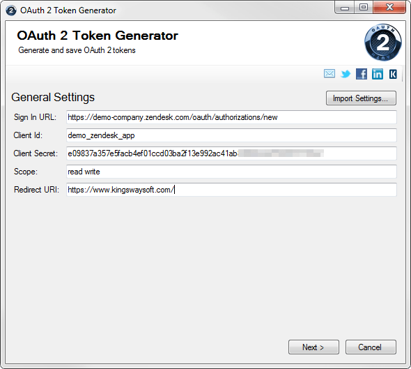 REST OAuth 2 Token Generator