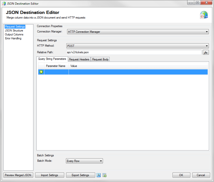 SSIS JSON Destination