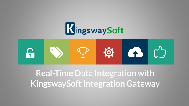 Real-Time Data Integration with KingswaySoft Integration Gateway