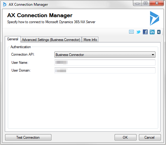 AX Connection Manager - Business Connector