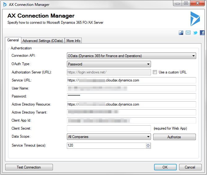 AX Connection Manager - OData