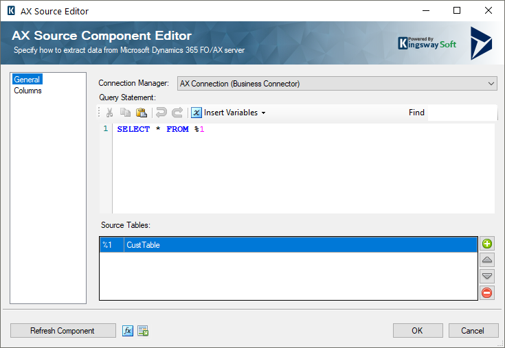 AX Source Component - Business Connector