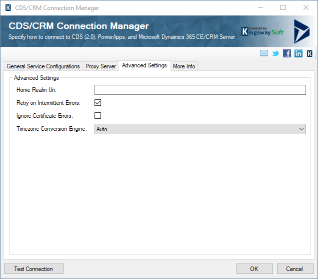 CRM Connection Manager