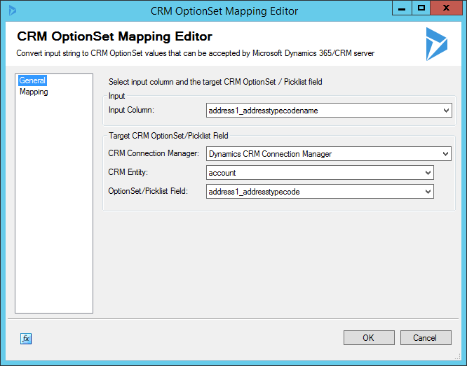 CRM OptionSet Mapping Editor