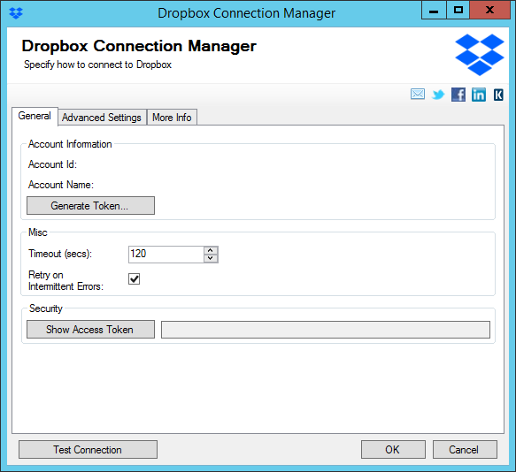 Dropbox Connection Manager
