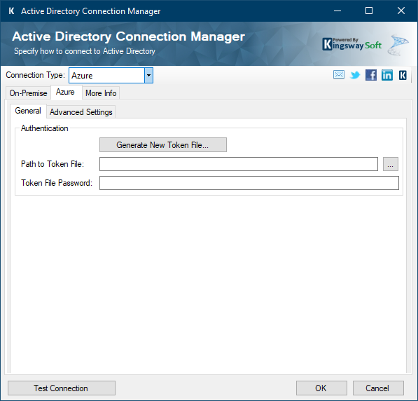 Azure Active Directory Connection Manager