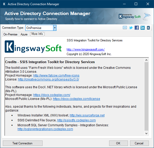 Active Directory Connection Manager