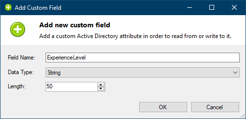 Add Active Directory custom field