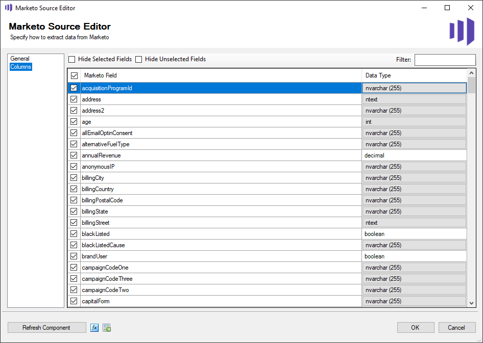 Marketo Source Editor