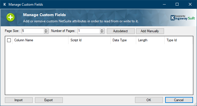 add NetSuite custom field