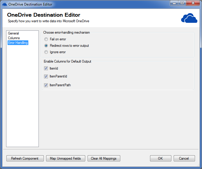 OneDrive Destination Editor