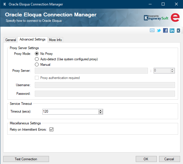 SSIS Oracle Eloqua connection - Advanced
