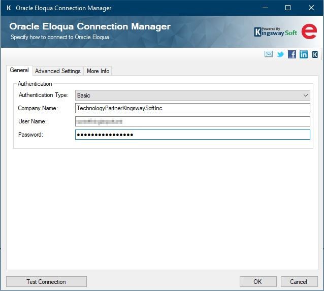 SSIS Oracle Marketing Cloud connection