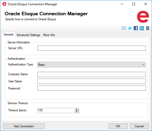 SSIS Integration Toolkit for Oracle Marketing Cloud - Eloqua Connection Manager