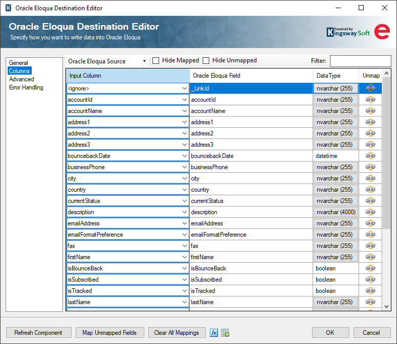 Help Manual - Data Integration for Oracle Marketing Cloud