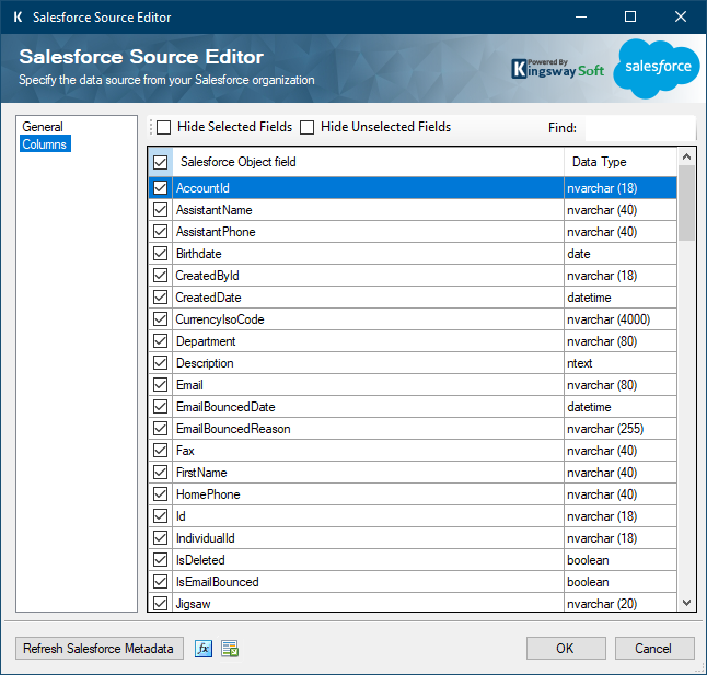 Help Manual - Salesforce Data Integration