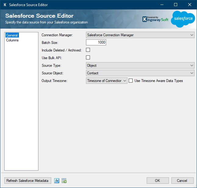 Salesforce SSIS Source Component