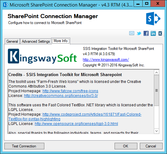 SharePoint Connection Manager