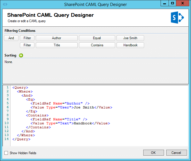 SharePoint CAML Query Designer