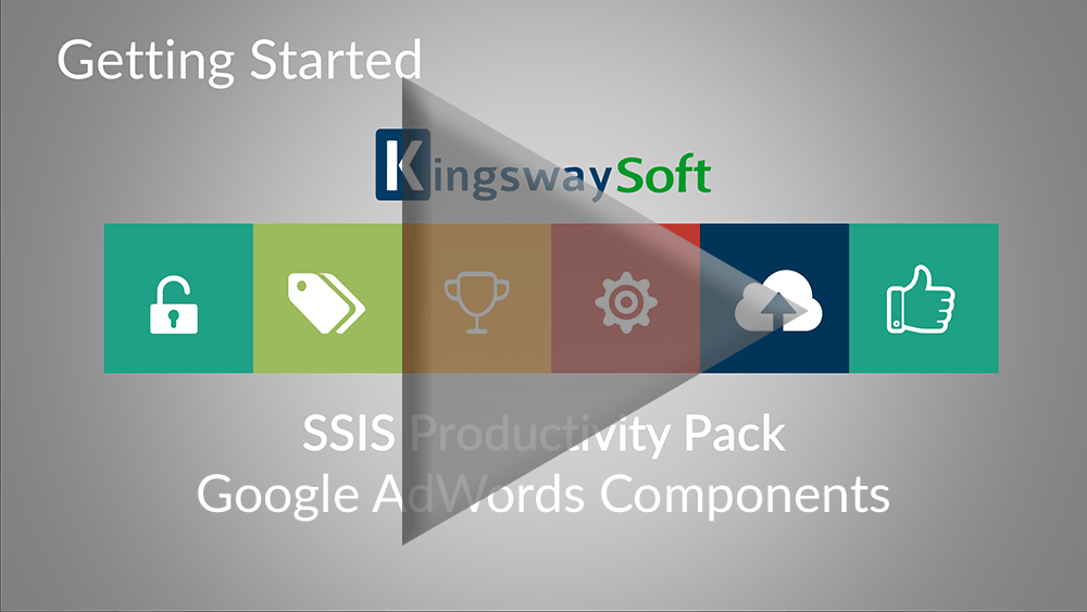 Youtube Video - Getting started with SSIS Productivity Pack - Google AdWords