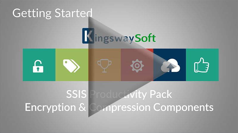 Youtube Video - Getting started with SSIS Productivity Pack - Encryption and Compression Components
