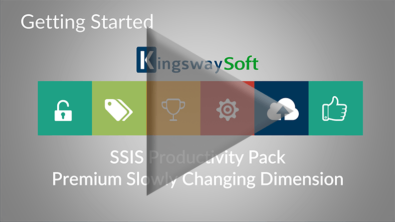 Youtube Video - Getting started with SSIS Productivity Pack - Premium Slowly Changing Dimension