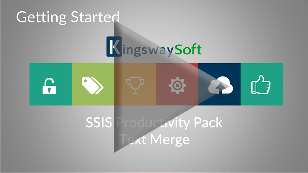 Youtube Video - Getting started with SSIS Productivity Pack - Text Merge