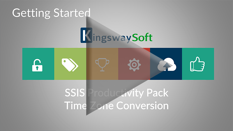 Youtube Video - Getting started with SSIS Productivity Pack - Time Zone Conversion