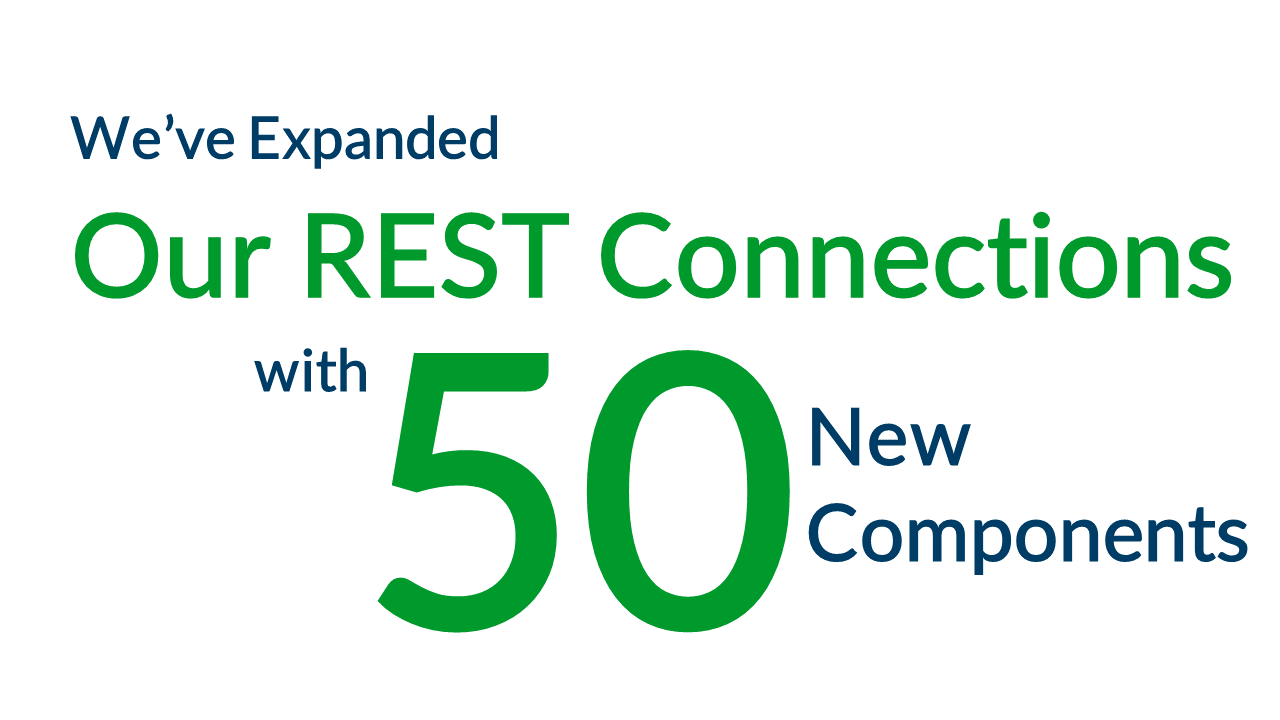 We've Expanded Our REST Connections with 50 New Components