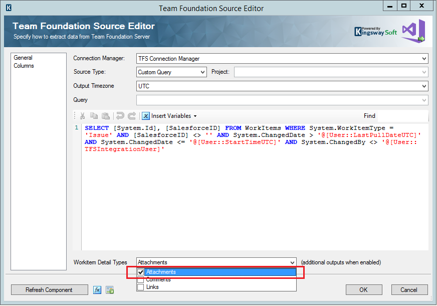 Team Foundation Source Editor - Enable Attachments