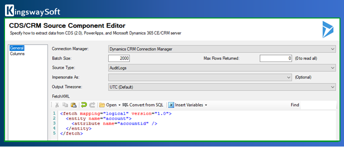CDS-CRM Source Component Editor