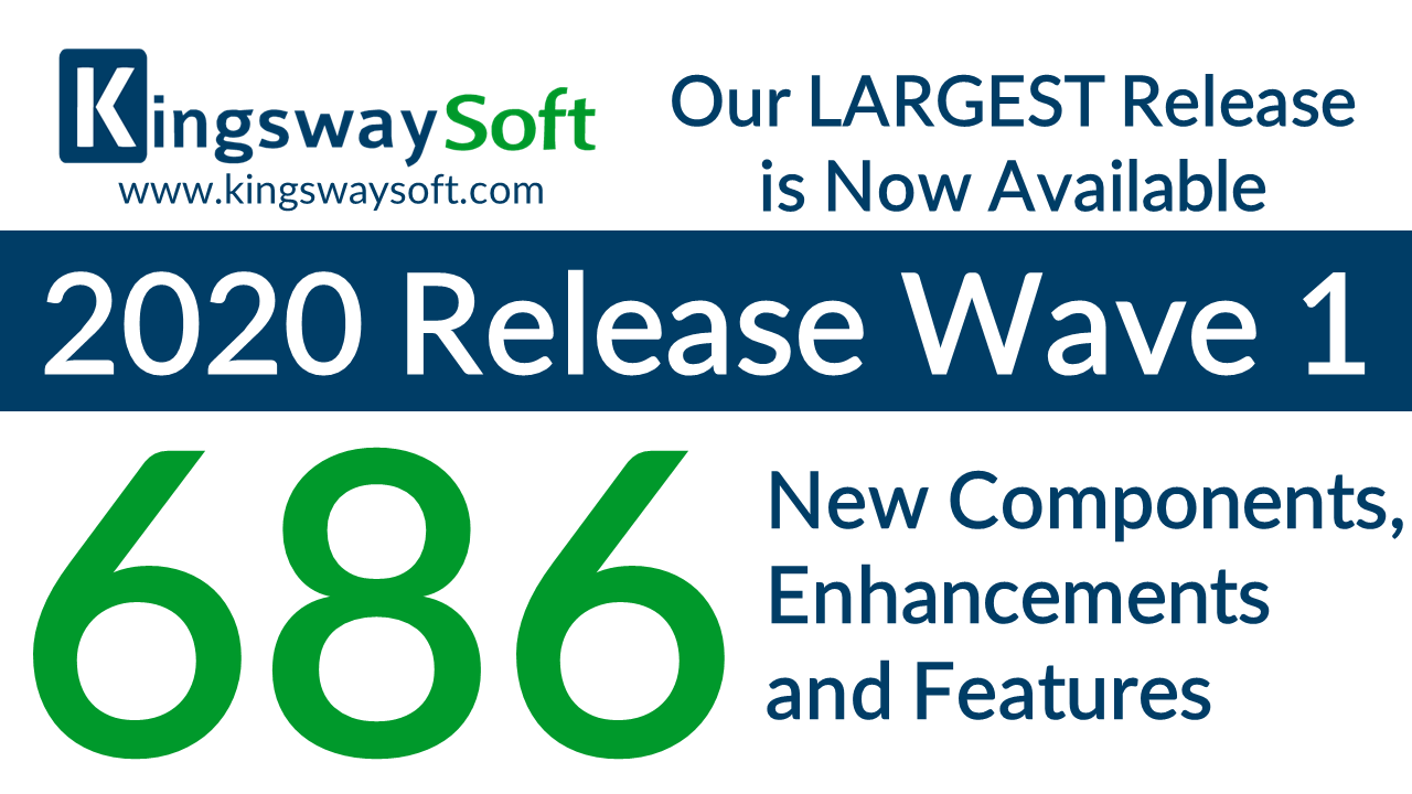 KingswaySoft 2020 Release Wave 1 Now Available