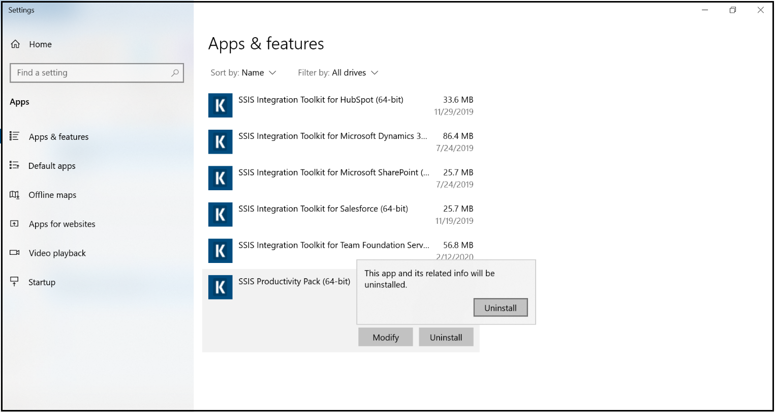 Windows Control Panel - Easiest Way to Uninstall KingswaySoft