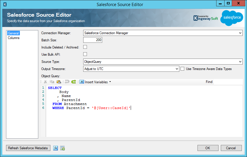 Salesforce Source Editor - ParentID Filed